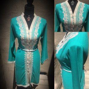 Dresses & Skirts - 🤘🏼Handmade Long Sleeve Short Kaftan🤘🏼